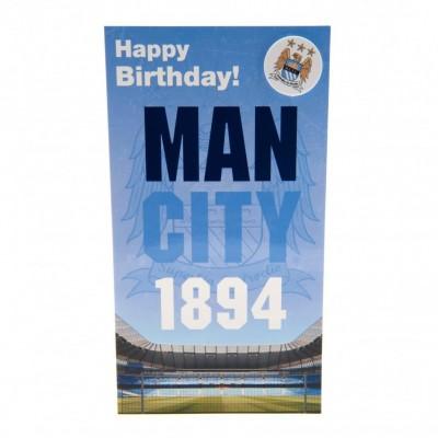 Манчестер Сити Поздравительная открытка и Значок EST