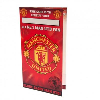 Манчестер Юнайтед Поздравительная открытка №1 FAN