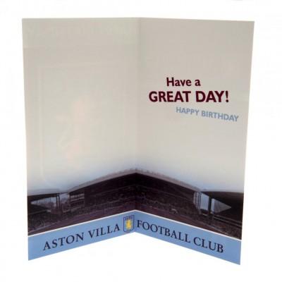 Астон Вилла Поздравительная открытка