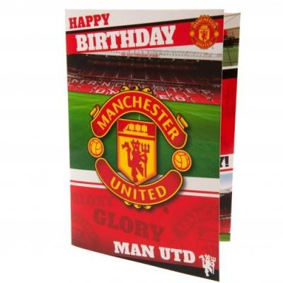 Манчестер Юнайтед Поздравительная музыкальная открытка