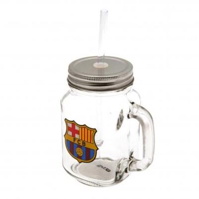 Барселона Стеклянная кружка с крышкой