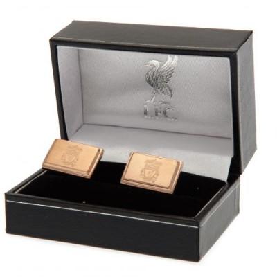 Ливерпуль Запонки с покрытием из розового золота