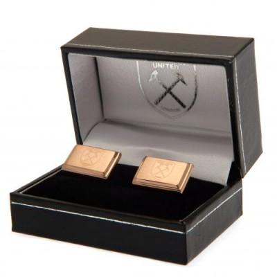 Вест Хэм Запонки с покрытием из розового золота