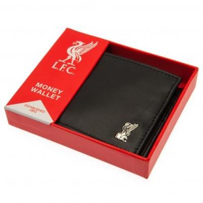 Ливерпуль Кожаный бумажник с металлической эмблемой