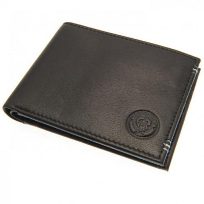 Манчестер Сити Кожаный бумажник с прострочкой
