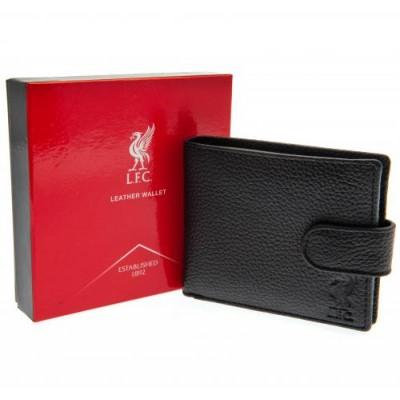 Ливерпуль Кожаный бумажник черный