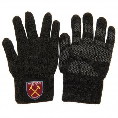 Вест Хэм Трикотажные перчатки взрослые (тачскрин)