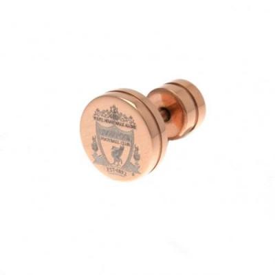 Ливерпуль Сережка с покрытием из розового золота