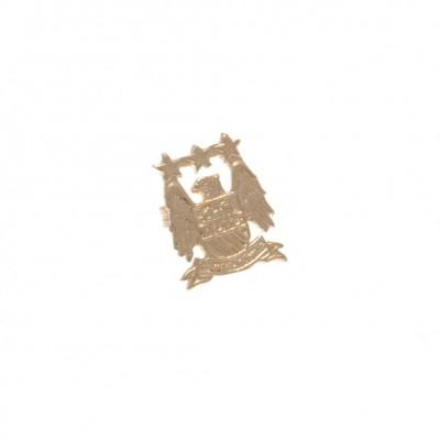 Манчестер Сити Сережка золотая 9 карат EC