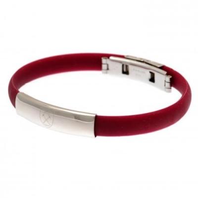 Вест Хэм Цветной силиконовый браслет