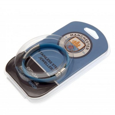 Манчестер Сити Цветной силиконовый браслет