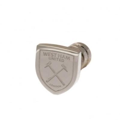Вест Хэм Сережка-эмблема из нержавеющей стали