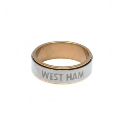 Вест Хэм Кольцо двухцветное 18 CT