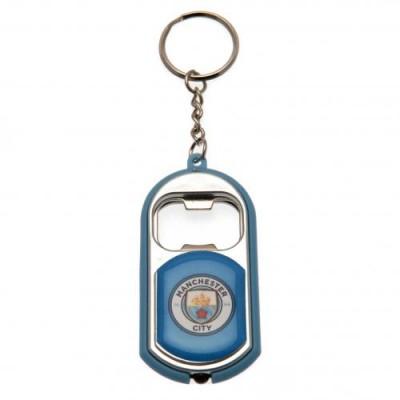 Манчестер Сити Брелок-открывалка с фонариком