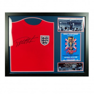 Англия Футболка Sir Geoff Hurst с автографом (багет)