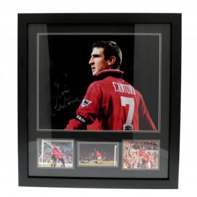 Манчестер Юнайтед Фотография Cantona с автографом (багет)