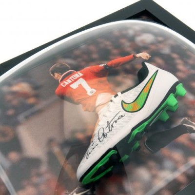 Манчестер Юнайтед Бутса Cantona с автографом (багет)