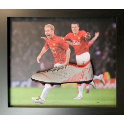 Манчестер Юнайтед Бутса Scholes с автографом (багет)
