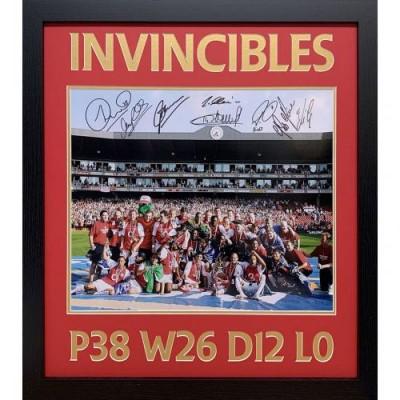 Арсенал Фотография 2004 Непобедимые с автографами (багет)