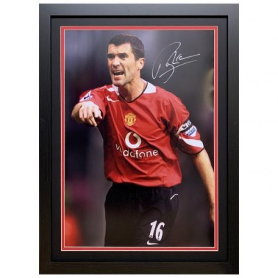 Манчестер Юнайтед Фотография Keane с автографом (багет)