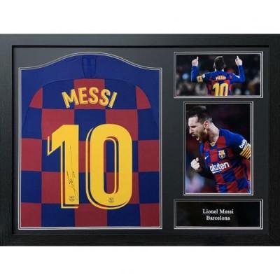 Барселона Футболка Messi с автографом 2019-20 (багет)