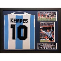 Аргентина Футболка Kempes с автографом (багет)