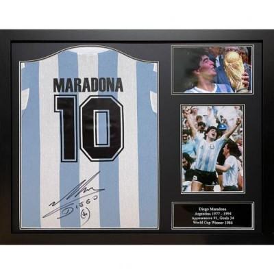 Аргентина Футболка Maradona с автографом (багет)