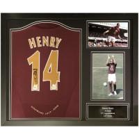 Арсенал Футболка Henry с автографом (багет)