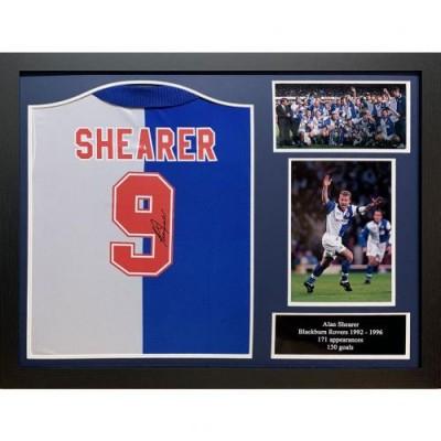Блэкберн Роверс Футболка Shearer с автографом (багет)