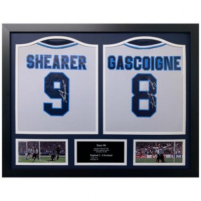 Англия Футболки Gascoigne и Shearer с автографами (багет)