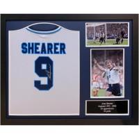 Англия Футболка Shearer с автографом (багет)