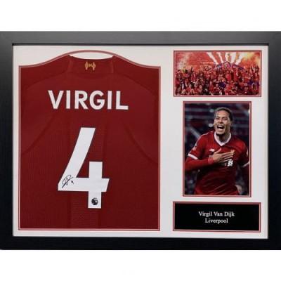 Ливерпуль Футболка Van Dijk с автографом (багет)