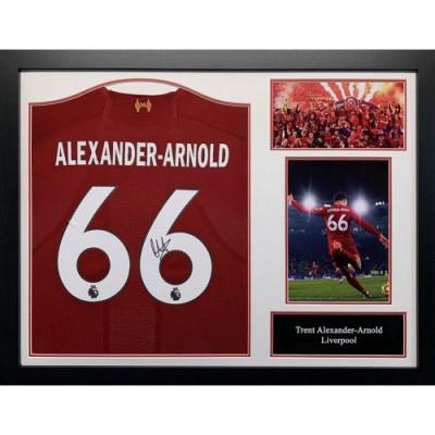 Ливерпуль Футболка Alexander-Arnold с автографом (багет)