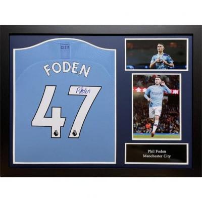 Манчестер Сити Футболка Foden с автографом (багет)