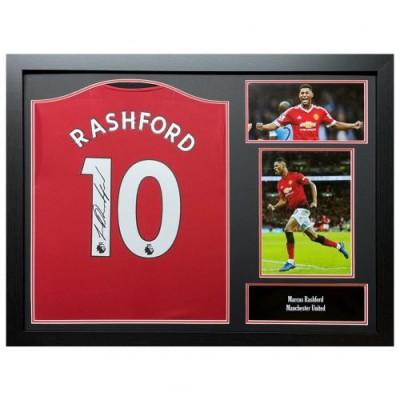 Манчестер Юнайтед Футболка Rashford с автографом (багет)