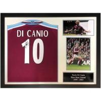Вест Хэм Футболка Di Canio с автографом (багет)
