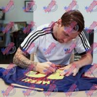 Барселона Футболка Messi с автографом 17-18