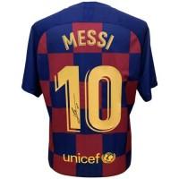 Барселона Футболка Messi с автографом 19-20
