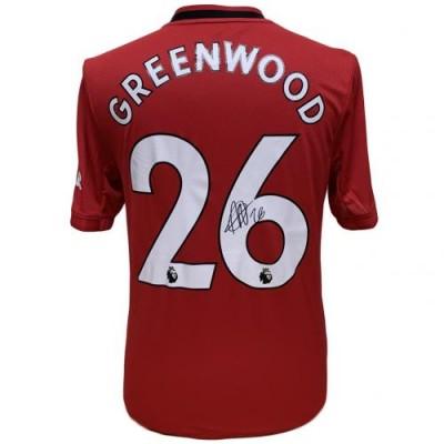 Манчестер Юнайтед Футболка Greenwood с автографом