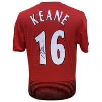 Манчестер Юнайтед Футболка Keane с автографом