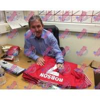 Манчестер Юнайтед Футболка Bryan Robson с автографом