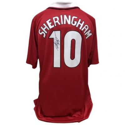 Манчестер Юнайтед Футболка Teddy Sheringham с автографом