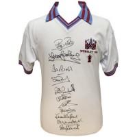 Вест Хэм Футболка 1980 Финал Кубка Англии с автографами