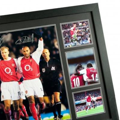 Арсенал Фотография Bergkamp и Henry с автографами (багет)