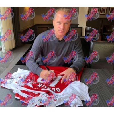 Арсенал Футболка Bergkamp с автографом (багет)
