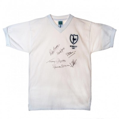 Тоттенхэм Футболка 1961 Финал Кубка Англии с автографами