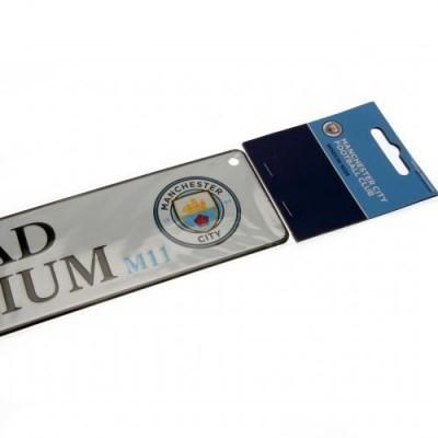 Манчестер Сити Металлическая табличка оконная