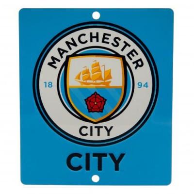 Манчестер Сити Металлическая табличка оконная SQ