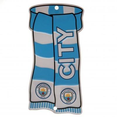 Манчестер Сити Металлическая табличка оконная Шарф