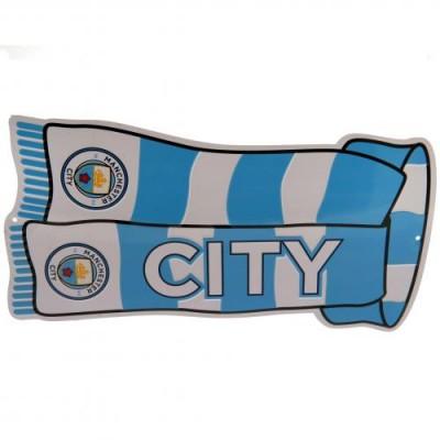 Манчестер Сити Металлическая табличка Шарф